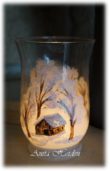 Handgemalte Windlichter, Flaschen und Kerzenhalter
